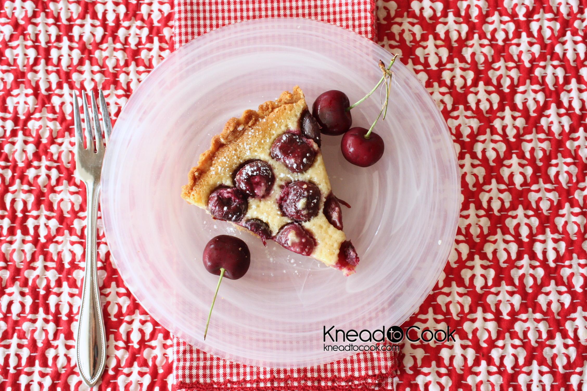 Dark Cherry, Almond & Amaretto Tart. - Knead to Cook