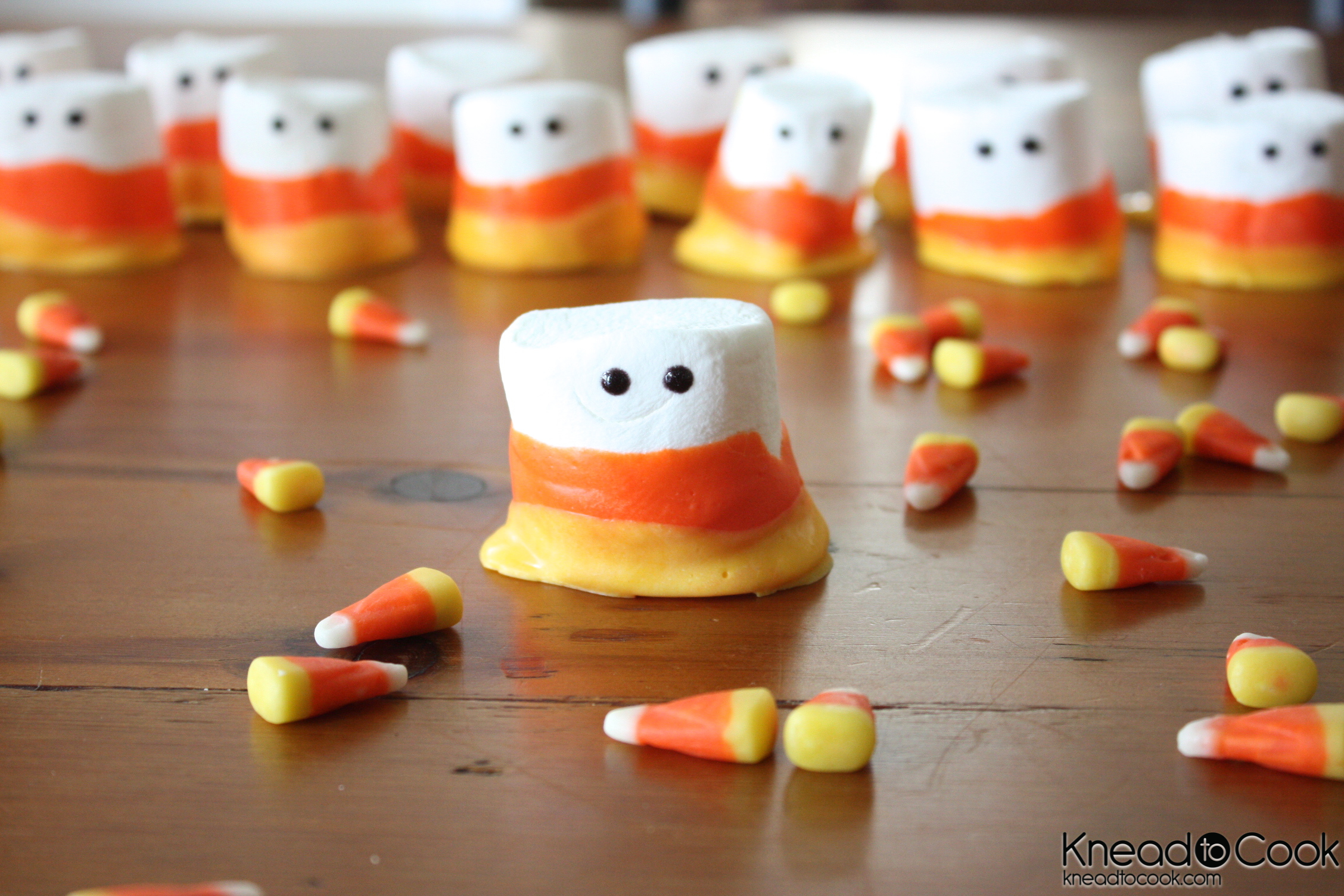Candy Corn Marshmallow People. Vegan/GF Option.