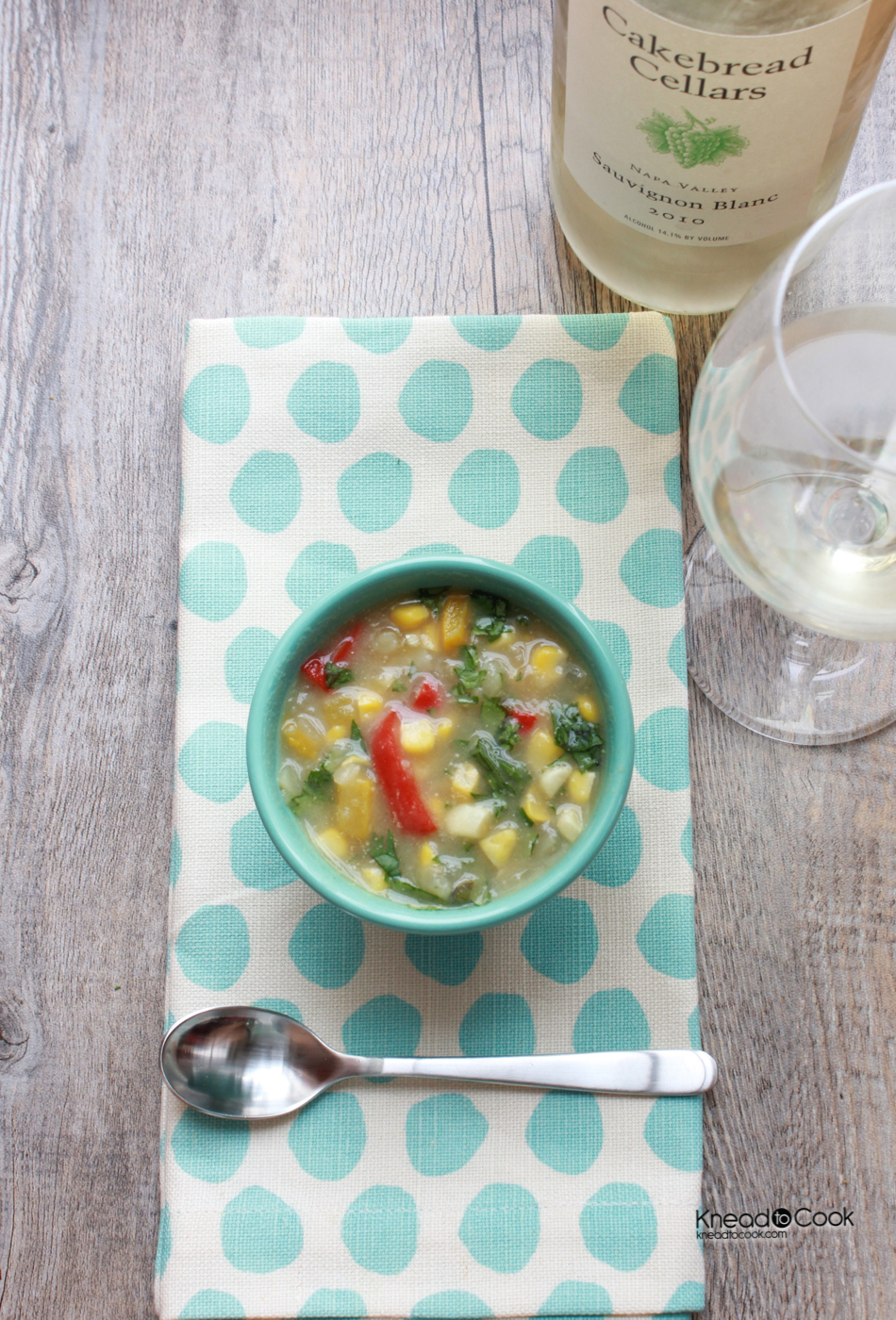 Healthy Corn Chowder. - Knead to Cook