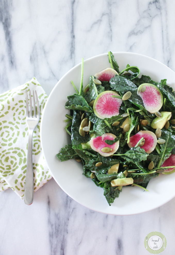 Massaged Kale Salad by Knead to Cook.