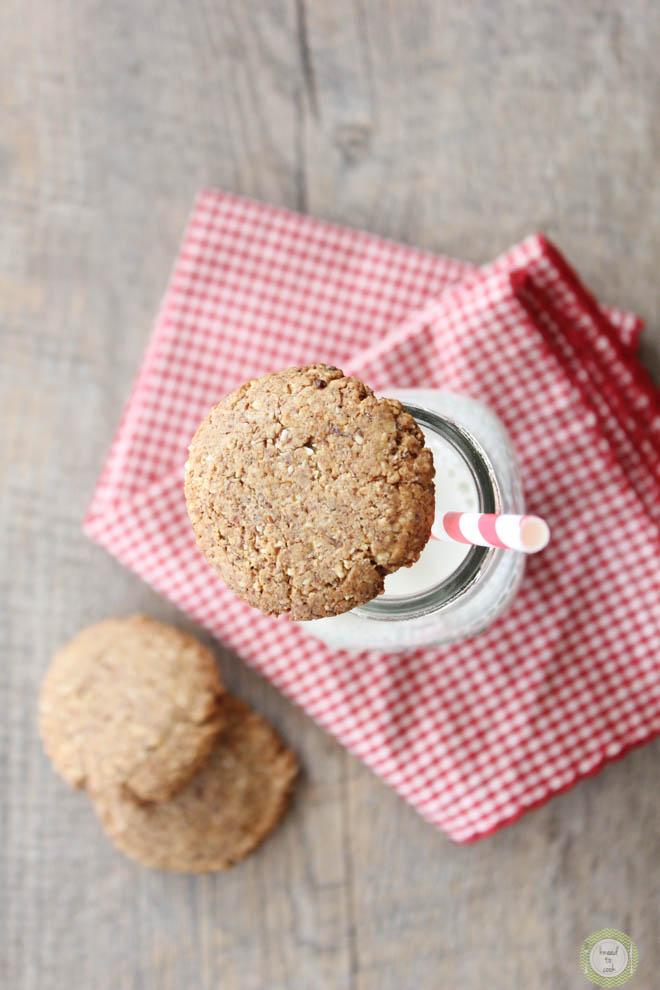Triple Almond Cookies.  Vegan. Gluten Free.