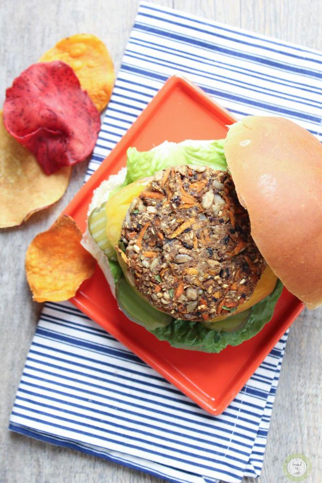 Veggie burger. Vegan and gluten free.