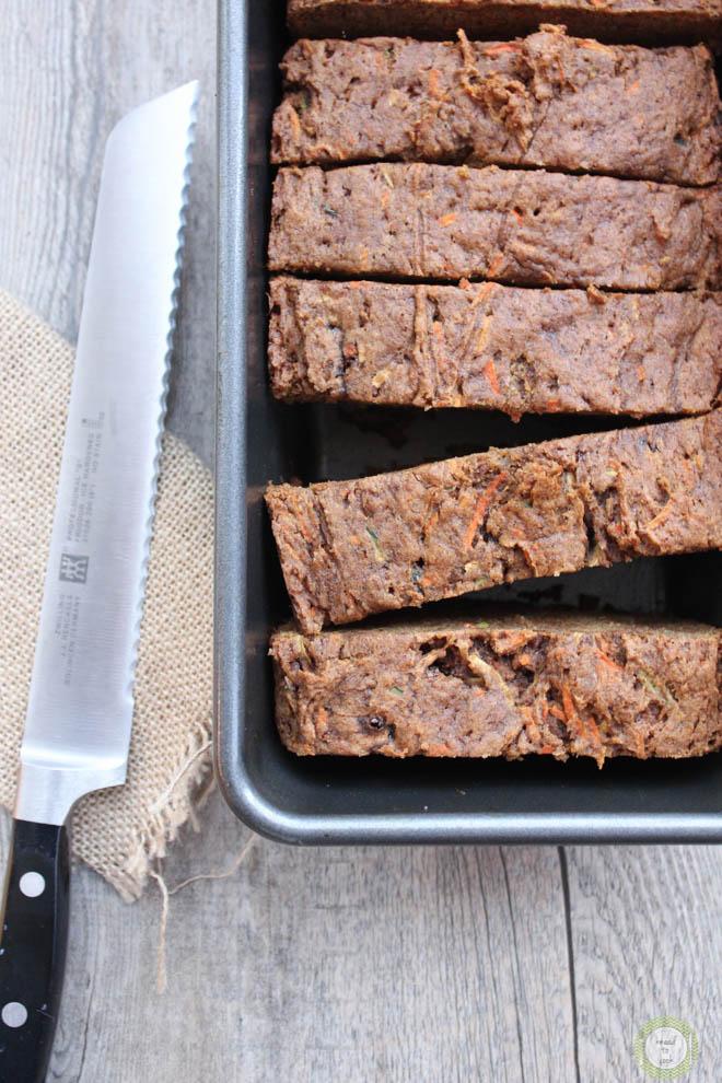 Zucchini Carrot Cake.  Vegan and Gluten Free.