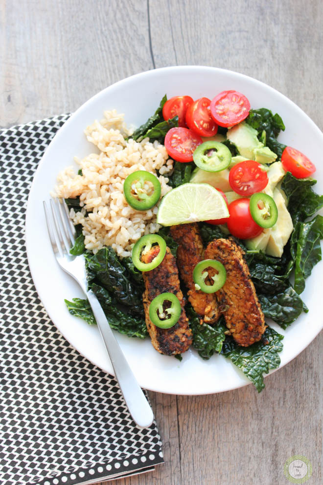 Chili Lime Tempeh Bowl.