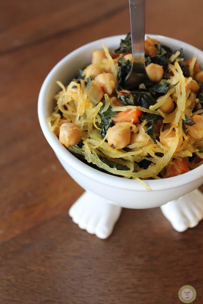 Stuffed Spaghetti Squash. Vegan. GF.