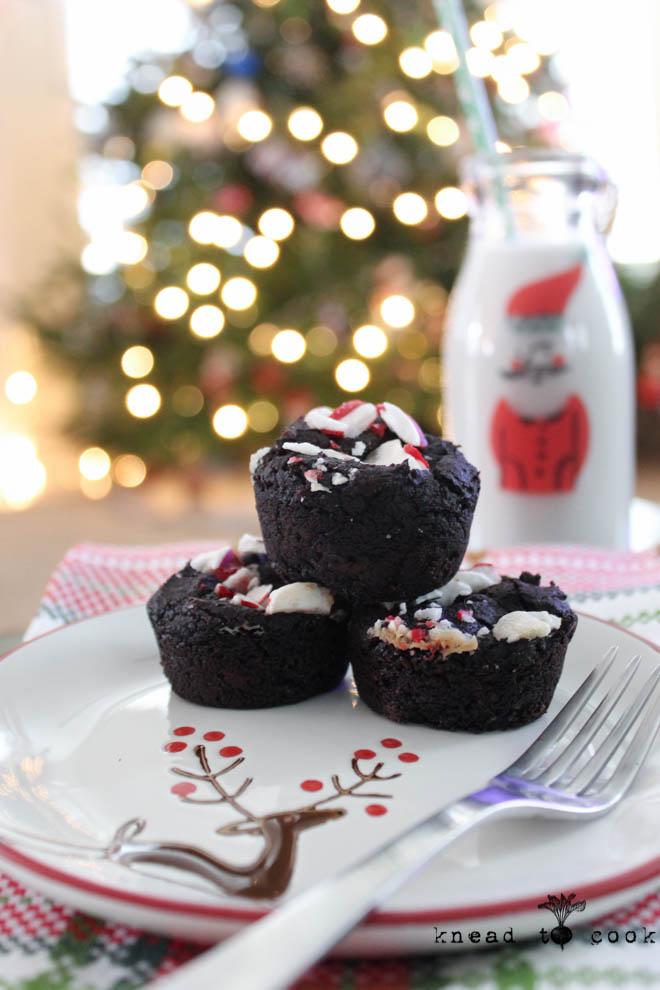 Peppermint Black Bean Protein Brownies.  Vegan and Gluten Free.