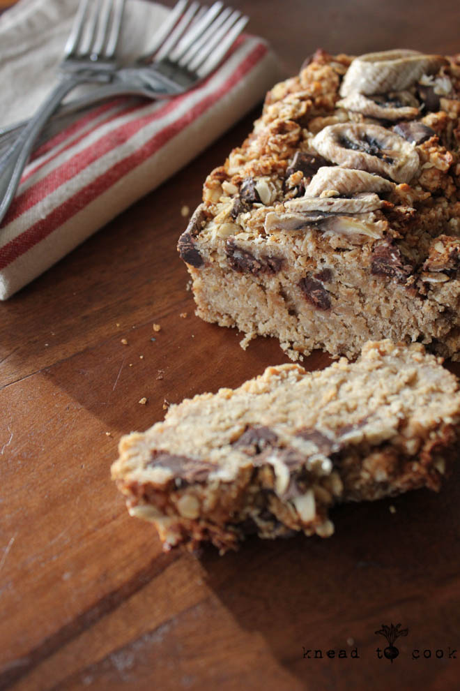 Lottie's Oat Banana Peanut Butter Bread. GF. Vegan.