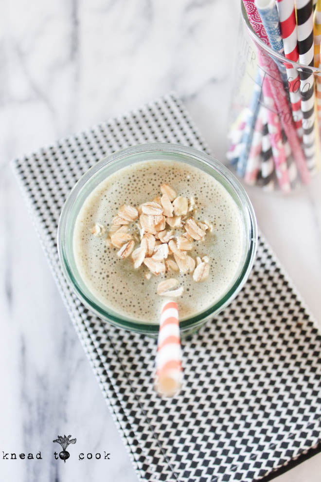 Oatmeal Date Protein Smoothie.