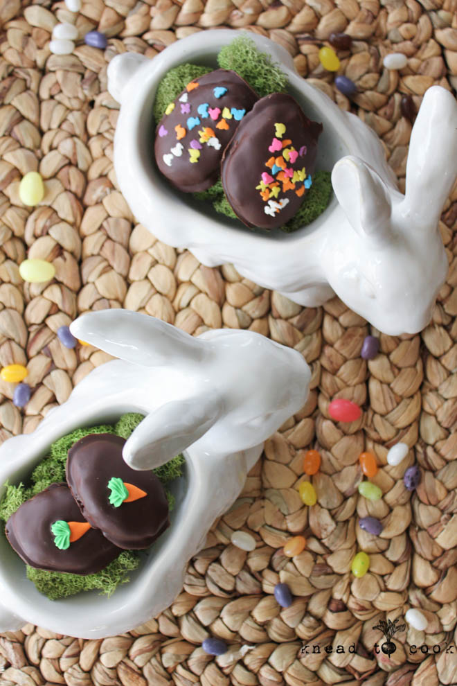 Vegan Almond Butter Chocolate Covered Eggs.