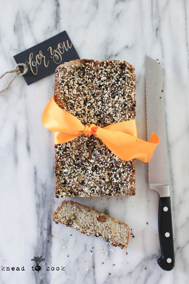 Super Seed Powerhouse Bread.  Vegan.  Gluten Free.