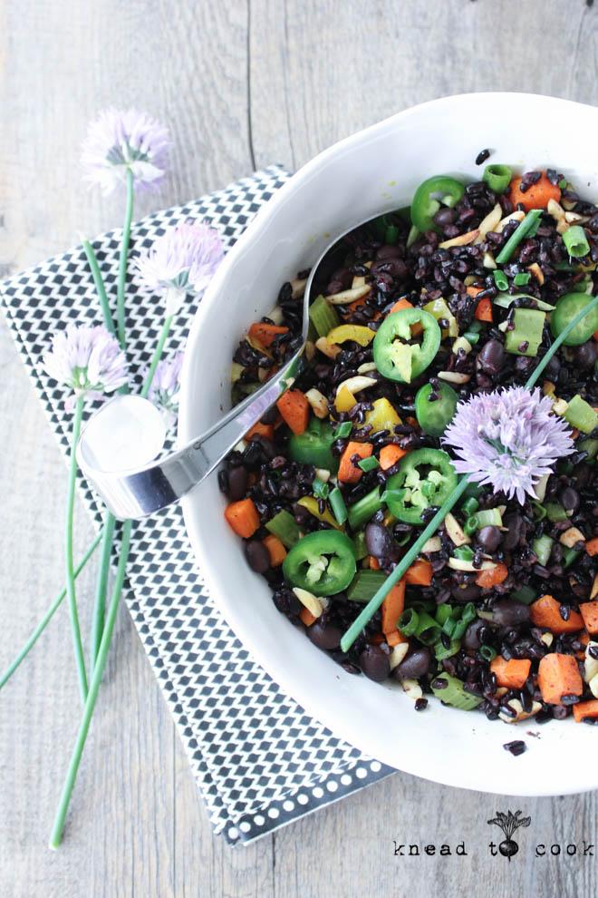 Balsamic Black Rice Salad. Vegan. Gluten Free.