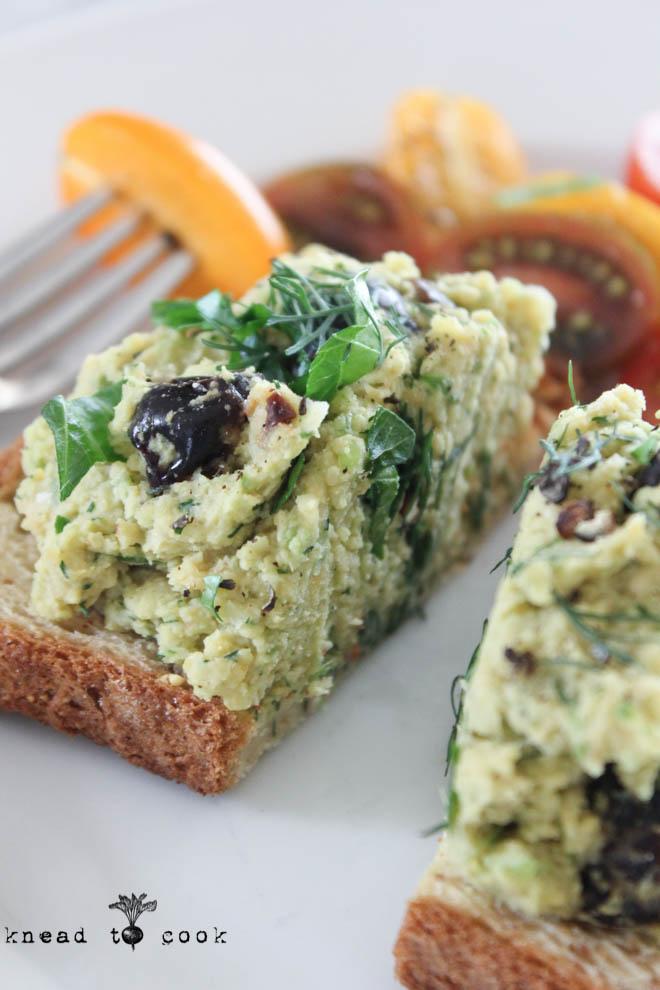 Dijon Dill Chickpea Salad. Vegan. Gluten Free.