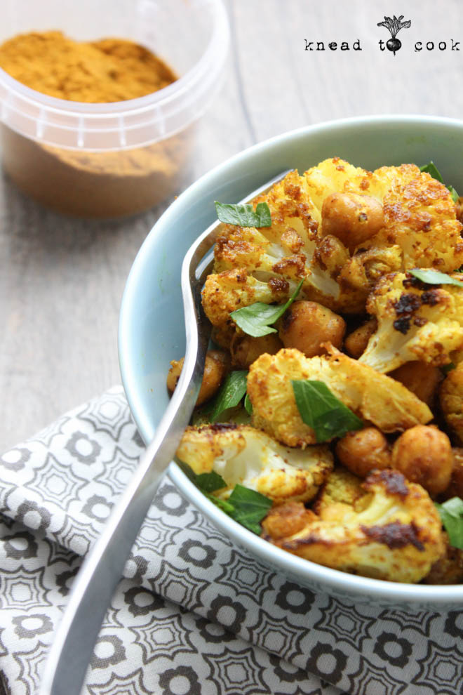 Tikka Masala Cauliflower and Chickpeas. Vegan. GF.