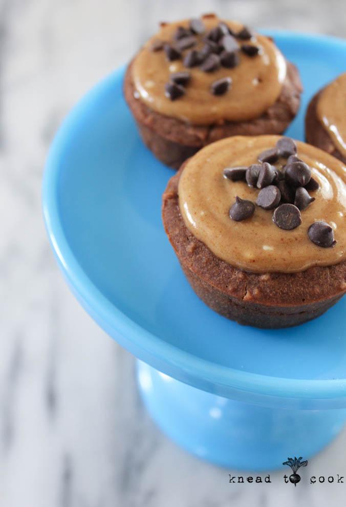Chocolate Almond Brownie Cupcakes. Vegan. GF.