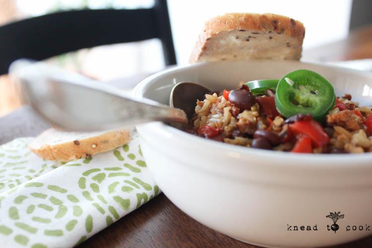 Black Bean Jambalaya. Vegan. Gluten Free.