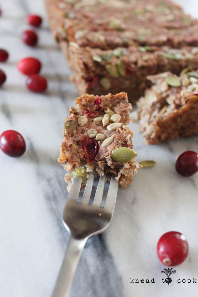 Cranberry Lentil Loaf. Vegan. Gluten Free.