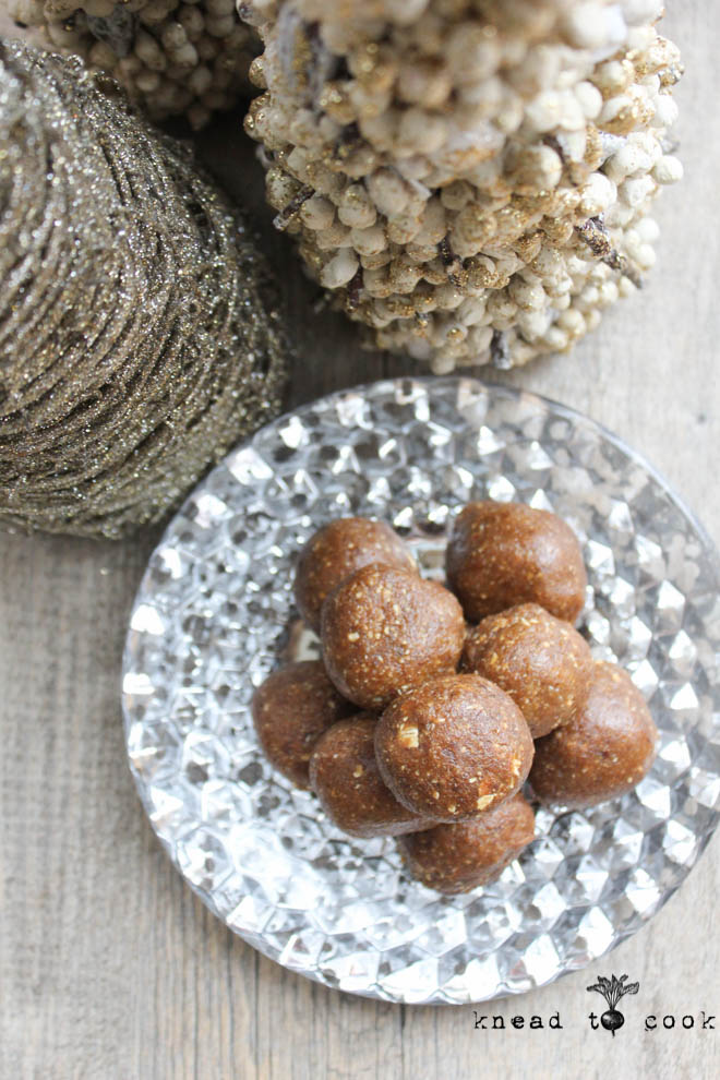 Raw Gingerbread Bites.  Vegan. GF.