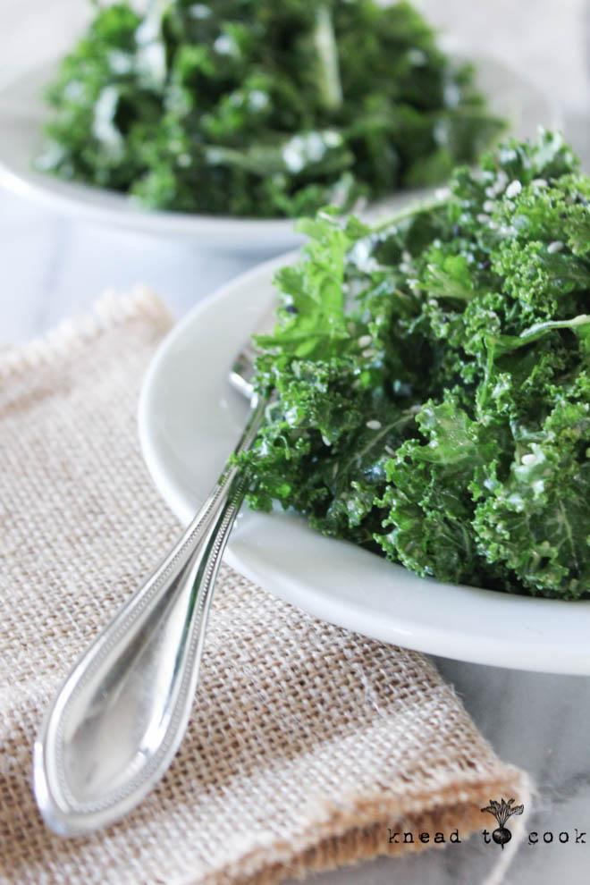 Garlicky Kale. Vegan. GF.