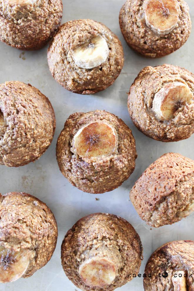 Banana Overload Muffins. Vegan. GF.