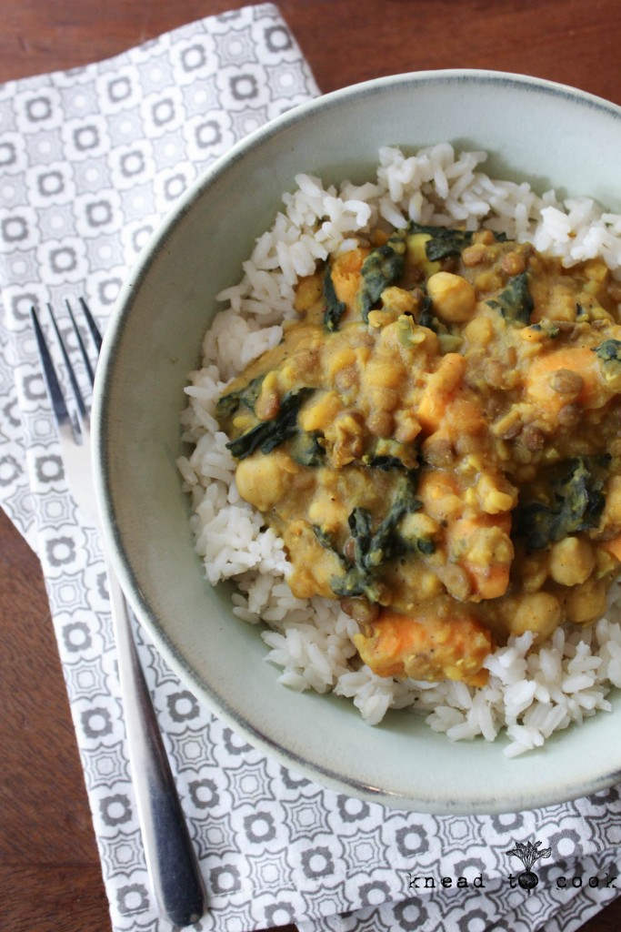 Sweet Potato and Kale Curry. Vegan. GF.